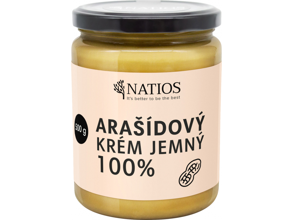 NATIOS Arasidovy krem, Jemny, 500 g