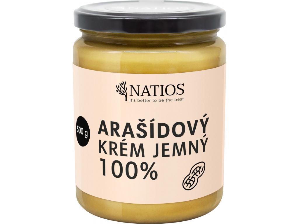 NATIOS sklenicka arasidovy krem jemny