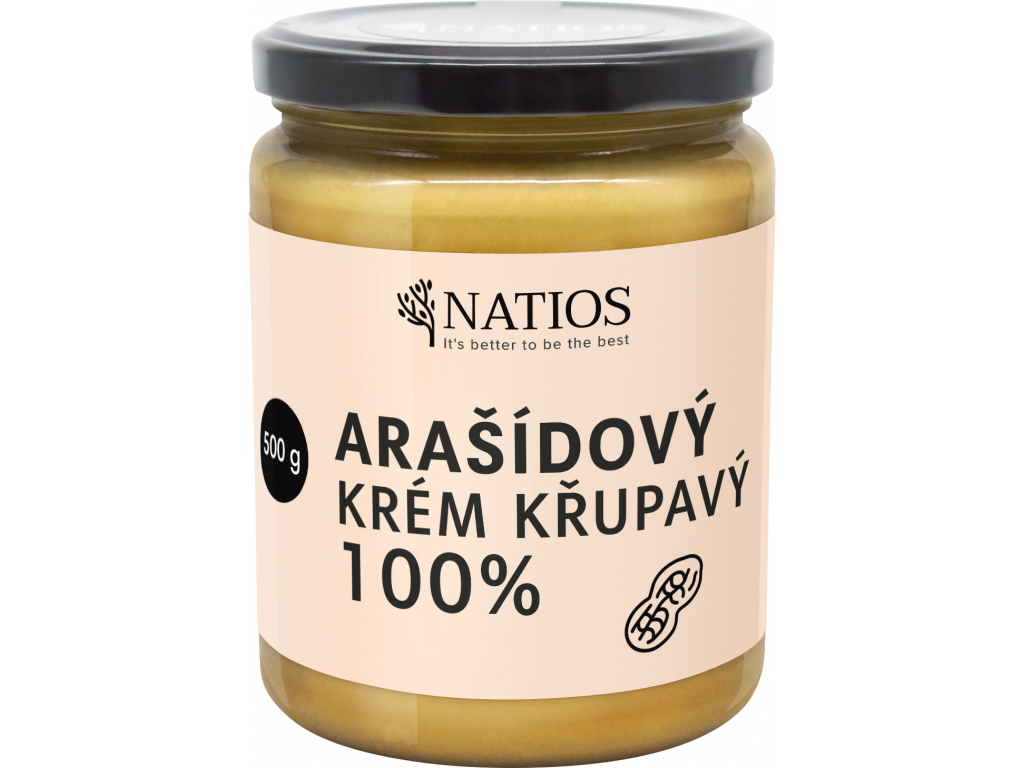 NATIOS Arasidovy krem, Krupavy, 500 g