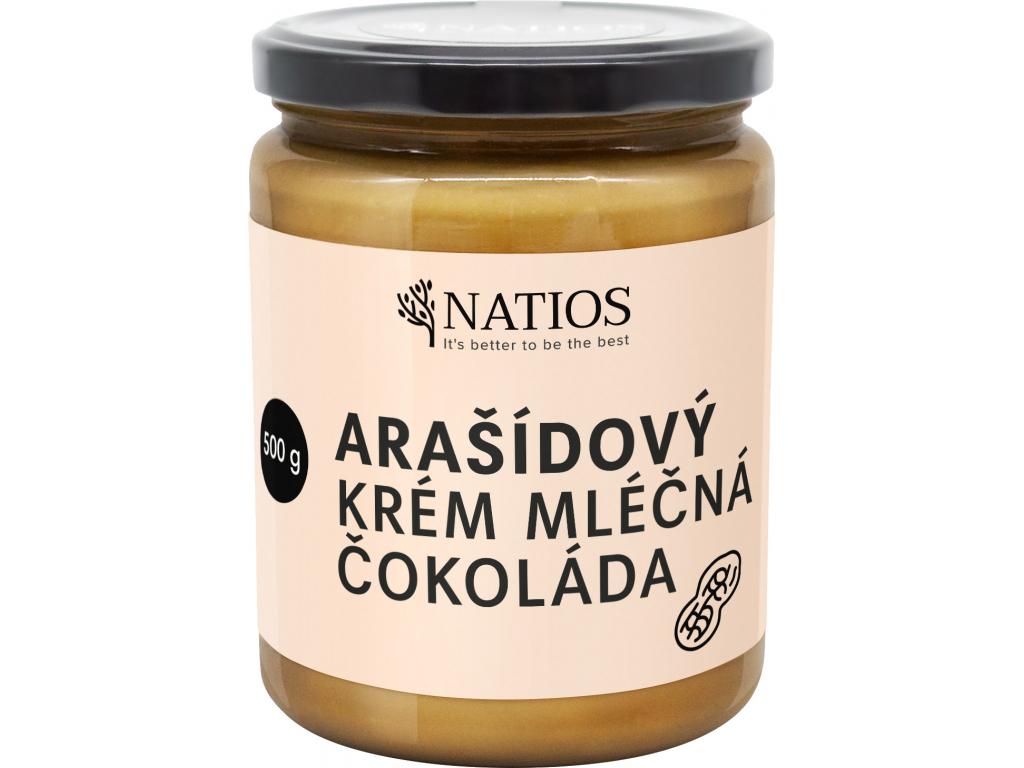 NATIOS Arasidovy krem s mlecnou cokoladou, 500 g