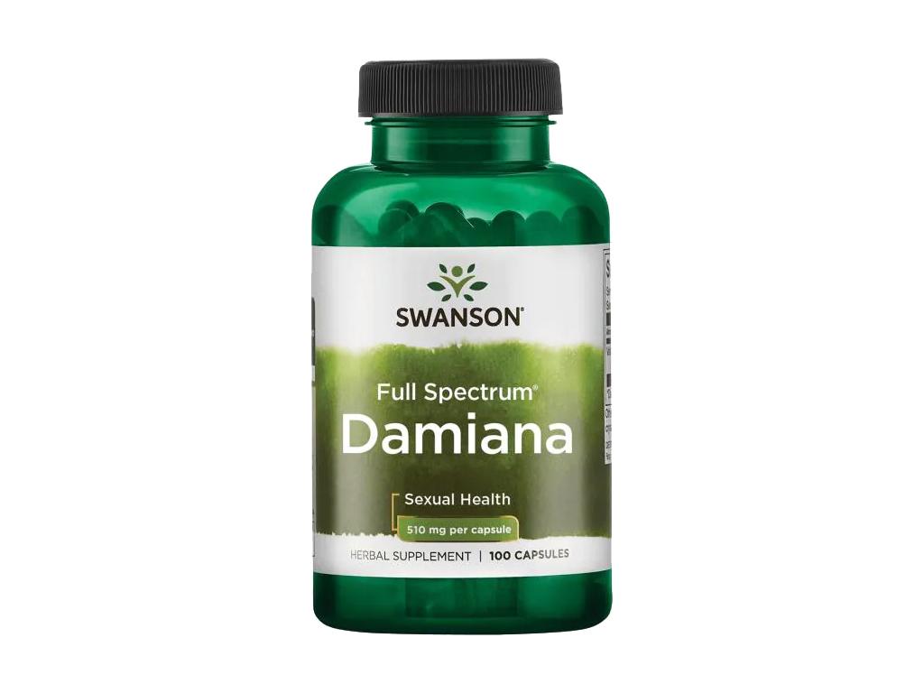 Swanson Damiana Full Spectrum, 510 mg, 100 kapslí