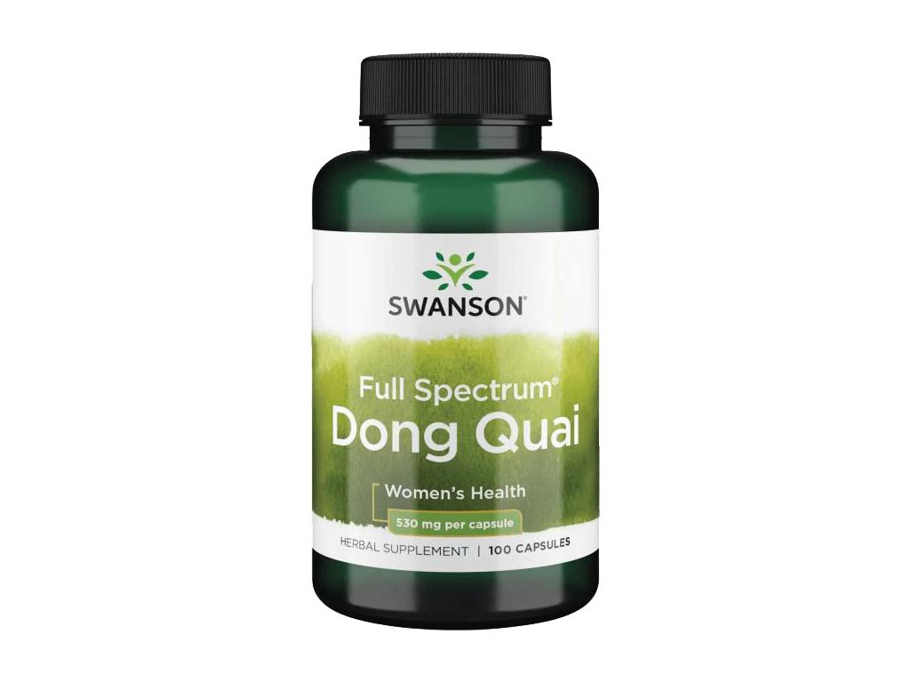 Swanson Dong Quai, Andělika čínská, 530 mg, 100 kapslí