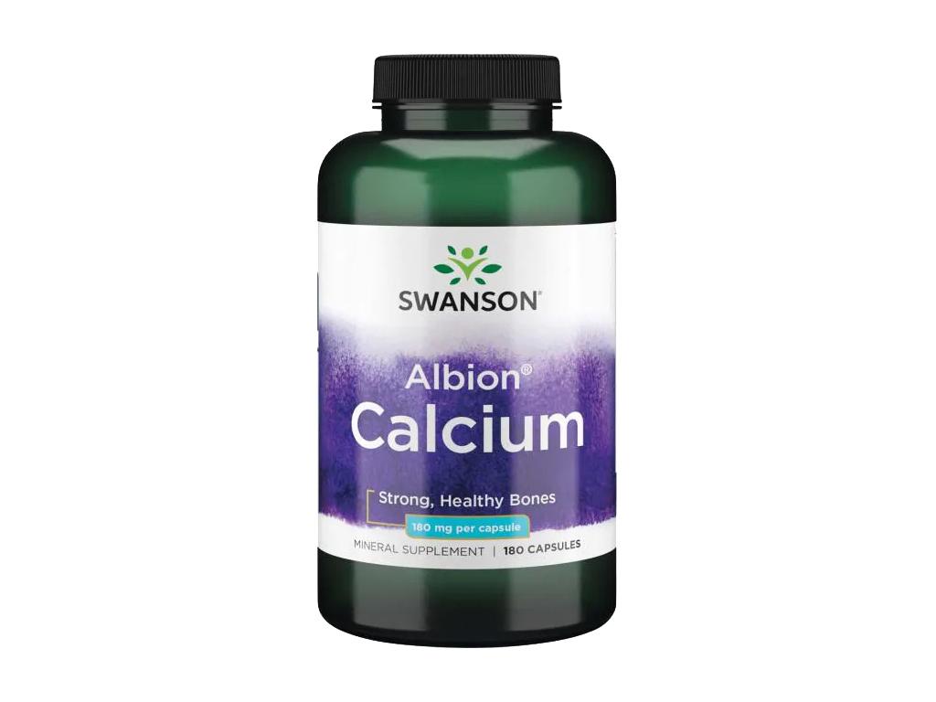 Swanson Calcium Glycinate, Vápník, 180 mg, 180 kapslí