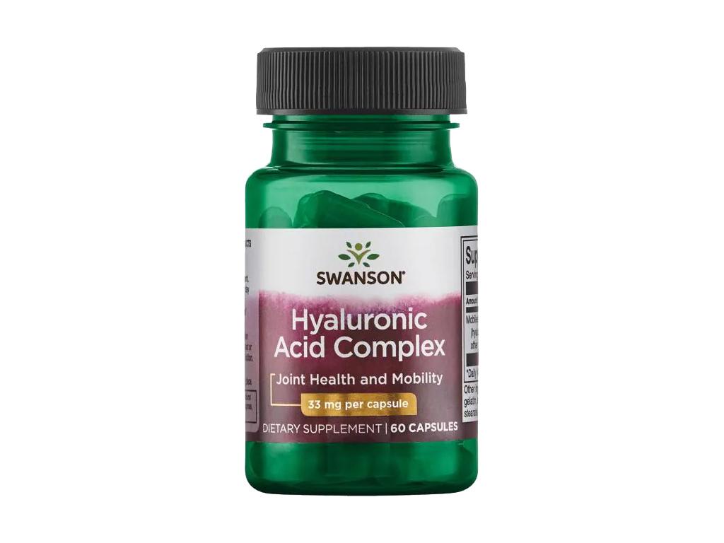 Swanson Hyaluronic Acid Complex, Komplex kyseliny hyaluronové, 33 mg, 60 kapslí
