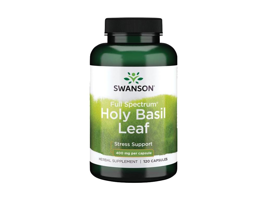 Swanson Holy Basil Leaf (Bazalka indická), 800 mg, 120 kapslí