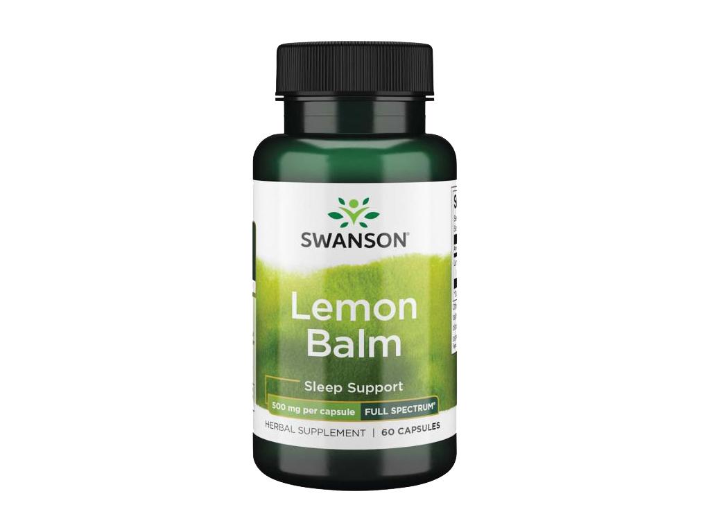 Swanson Lemon Balm (Meduňka Lékařská) 500 mg, 60 kapslí