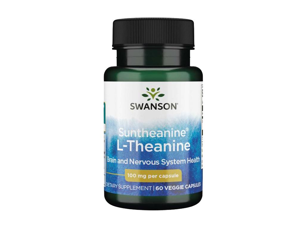 Swanson L Theanin Suntheanine 100 mg, 60 kapslí