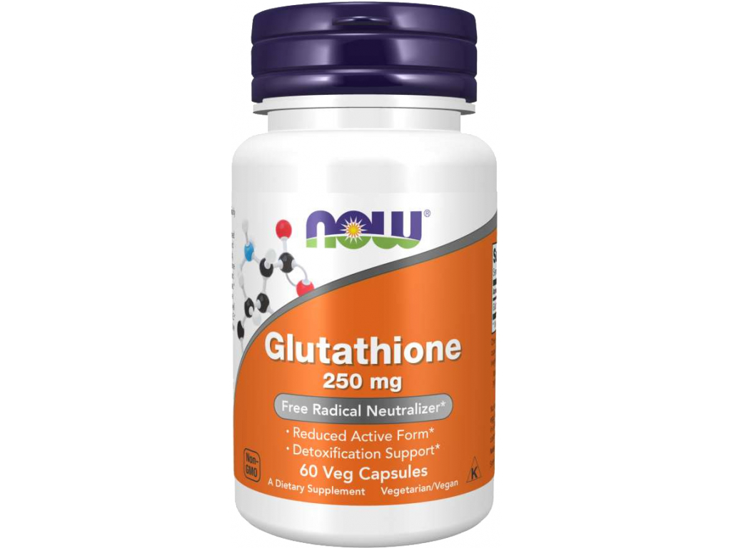NOW FOODS Glutathione, 250 mg, 60 rostlinných kapslí