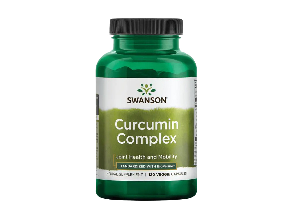 Swanson Curcumin Complex, Kurkuminový komplex, 350 mg, 120 rostlinných kapslí