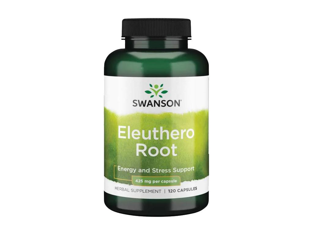 Swanson Eleuthero Root, Sibiřský ženšen, 425 mg, 120 kapslí