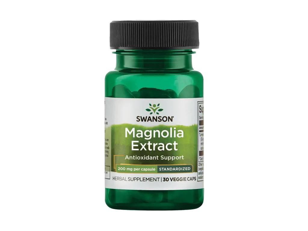 Swanson Magnolia Extract, 200 mg, 30 rostlinných kapslí