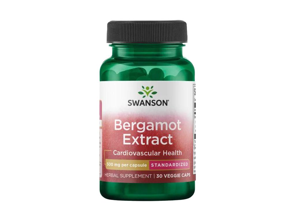 Swanson Bergamot Extract, 500 mg, 30 rostlinných kapslí