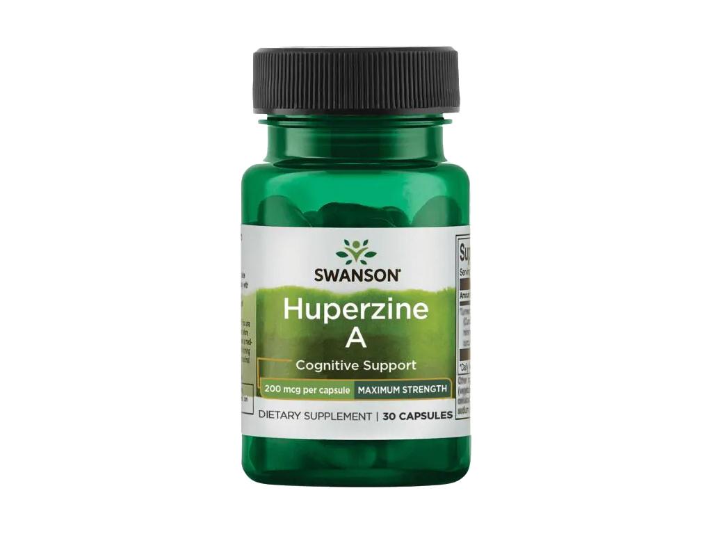 Swanson Huperzine A, 200 μg, 30 kapslí