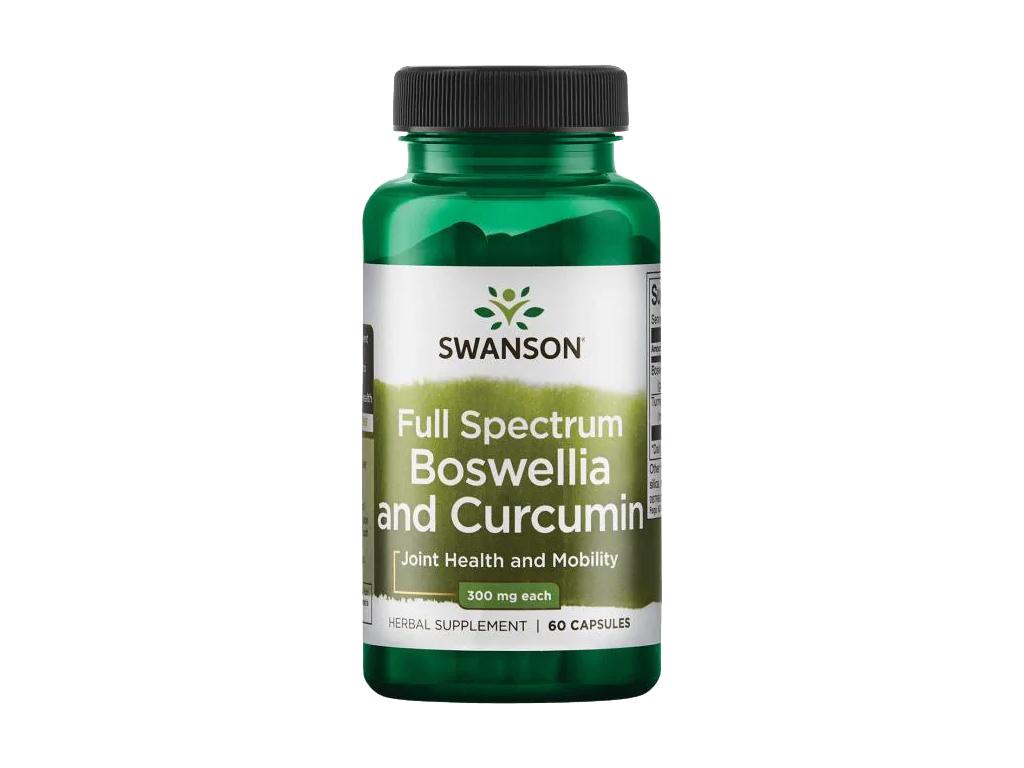 Swanson Boswellia & Curcumin, 60 kapslí