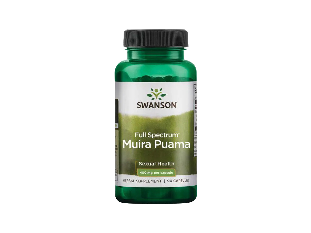 Swanson Muira Puama, 400 mg, 90 kapslí