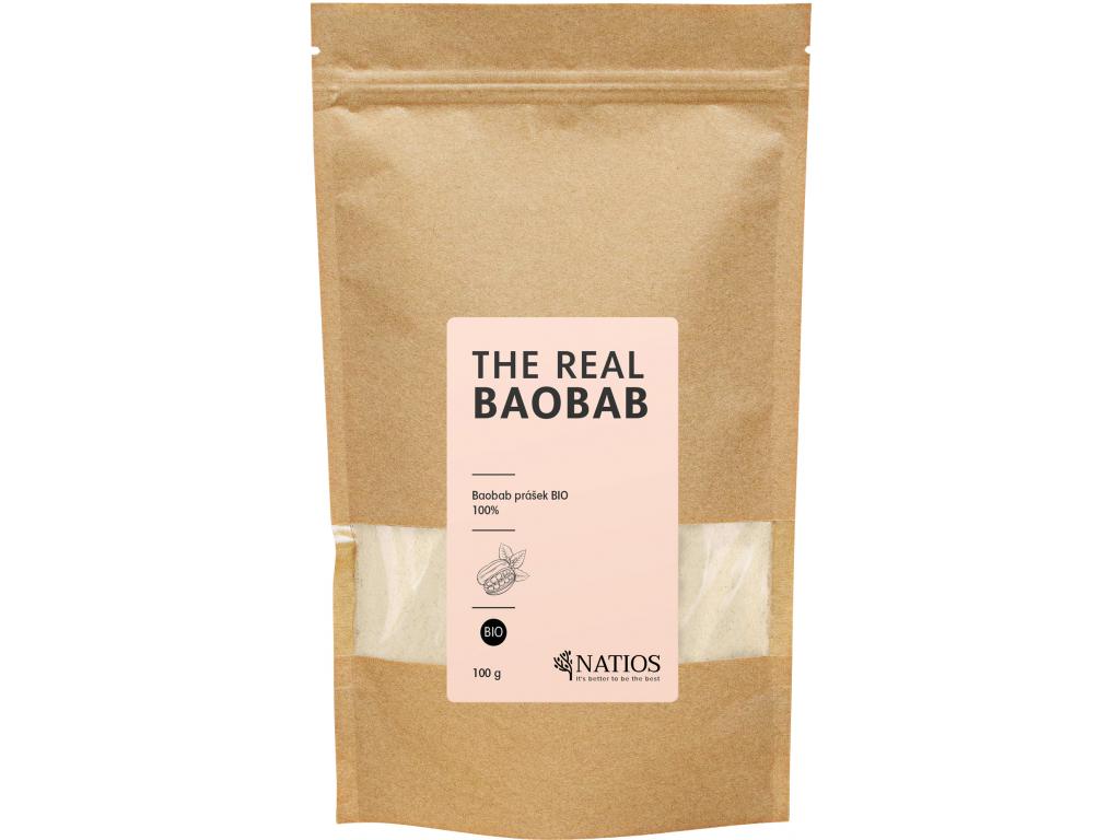 NATIOS BIO Baobab Prášek, 100 g
