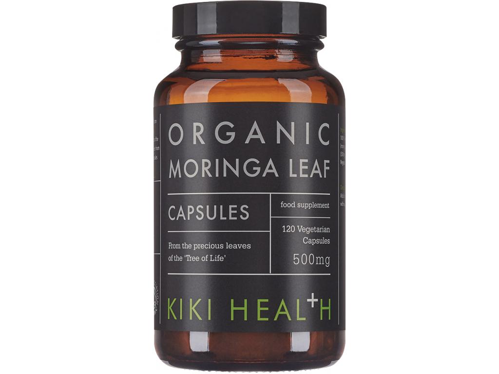 Kiki Health Moringa Leaf, Organic, 500 mg, 120 rostlinných kapslí