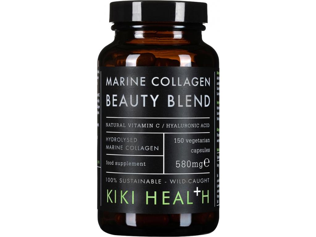 Kiki Health Marine Collagen Beauty Blend, 150 rostlinných kapslí
