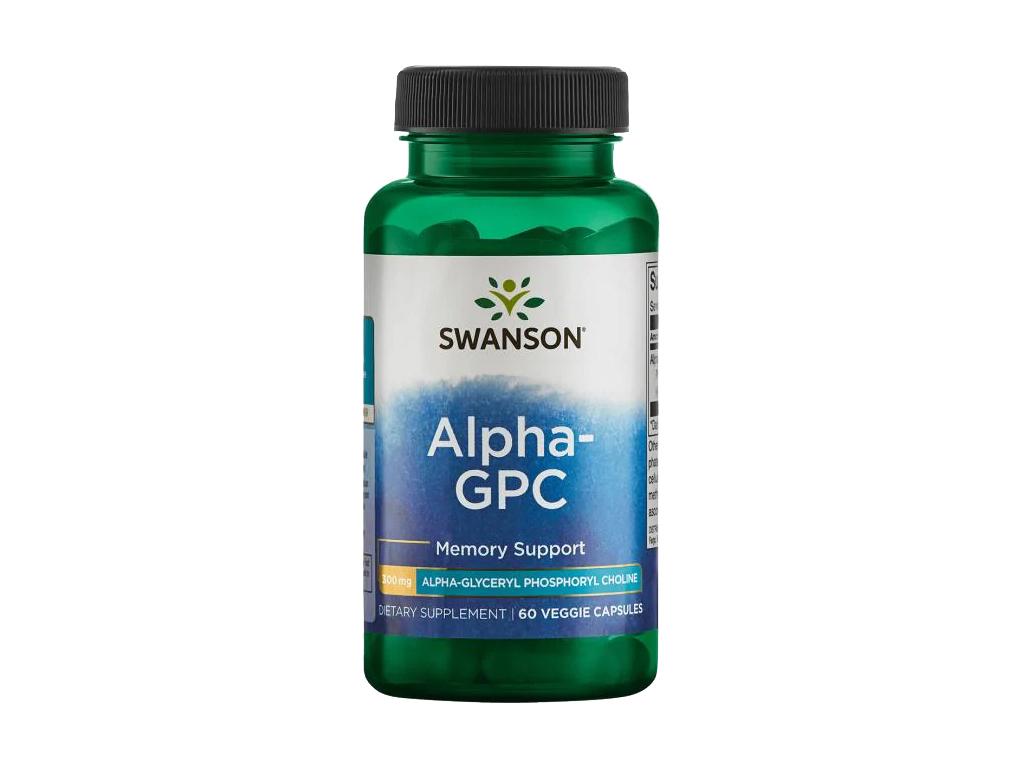 Swanson Alpha GPC, 300 mg, 60 rostlinných kapslí