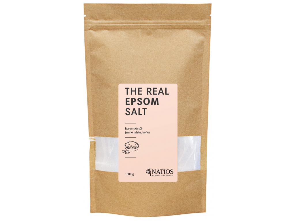 NATIOS Epsomská sůl jemně mletá, Sůl do koupele, 1000 g