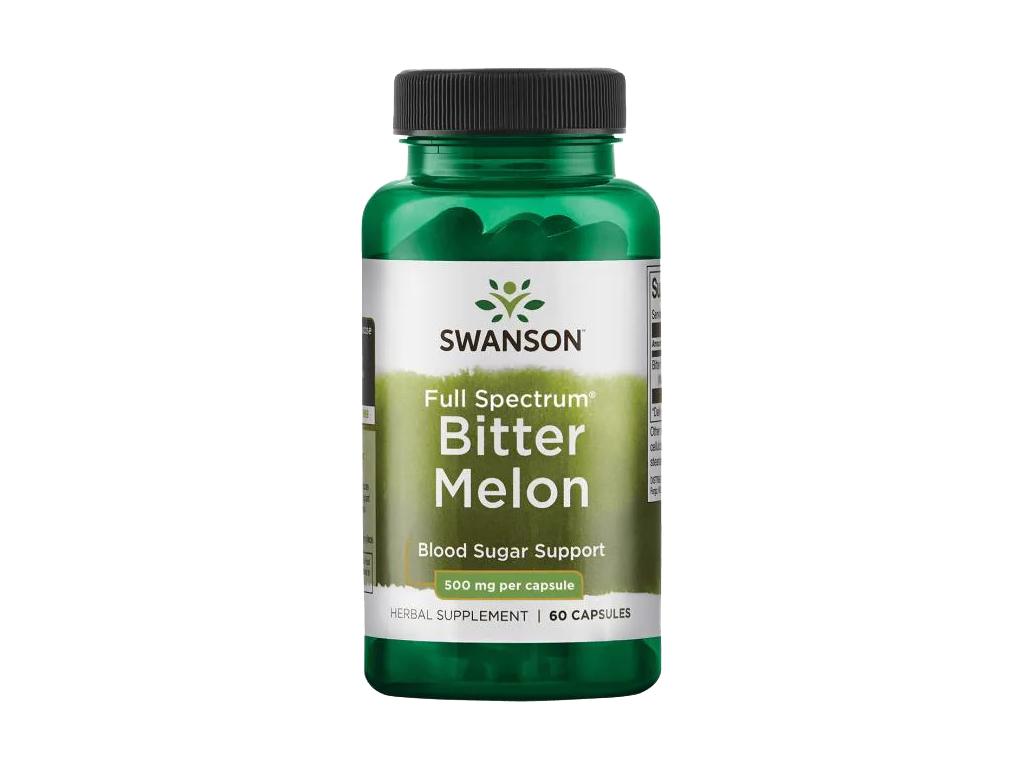 Swanson Bitter Melon, Hořká okurka, 500 mg, 60 kapslí