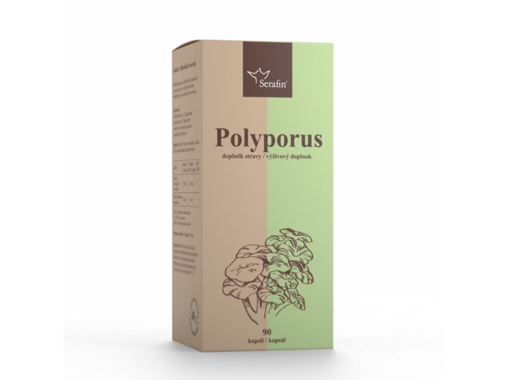 Serafin Polyporus s Jitrocelem, 40% polysacharidů, 90 kapslí