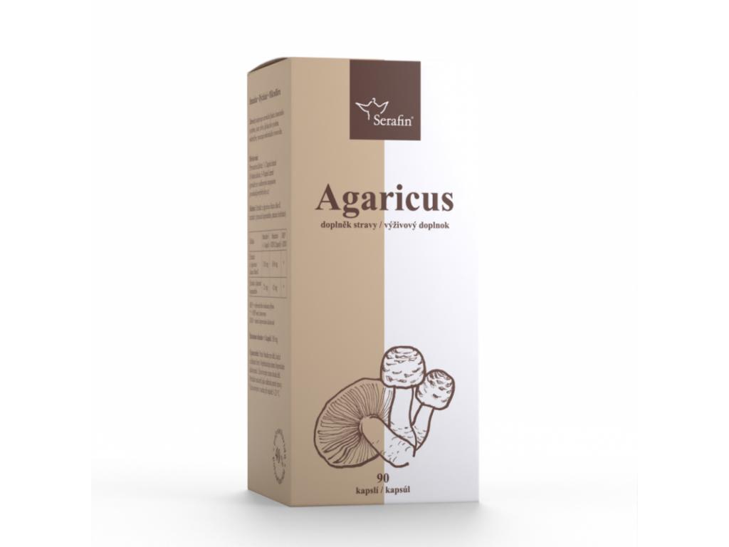 Serafin Agaricus s Jitrocelem, 40% polysacharidů, 90 kapslí
