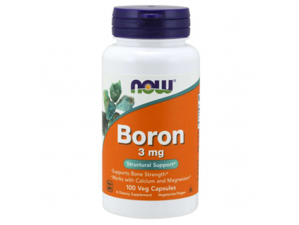 NOW FOODS Bor 3 mg, 100 Tablet predni strana