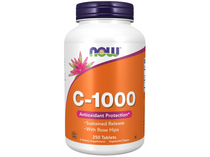 NOW FOODS Vitamin C 1000 s postupným uvolňováním, 250 Tablet