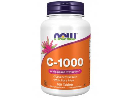 NOW FOODS Vitamin C 1000 s postupným uvolňováním, 100 Tablet
