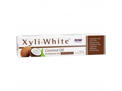 NOW SOLUTIONS XyliWhite Zubní Pasta Kokosový olej, 181 g