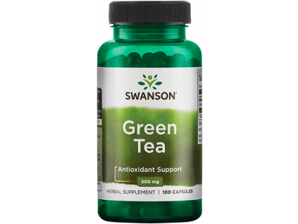 Swanson Green Tea 500 mg 60 kapslí