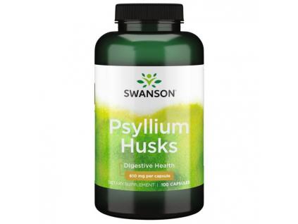 Swanson Psyllium Husk, 610 mg, 100 kapslí