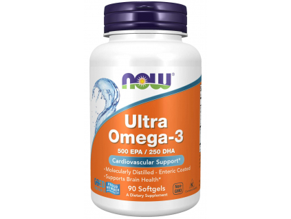 NOW FOODS Ultra Omega 3 Rybí olej 500 EPA + 250 DHA x 90 softgel kapslí