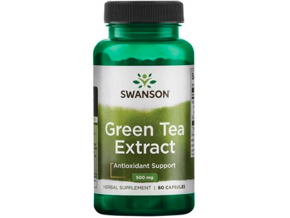Swanson Green Extract Tea 500 mg 60 kapslí