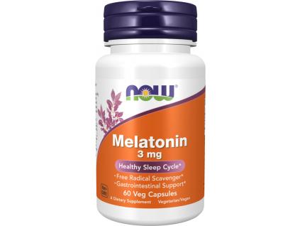 NOW FOODS Melatonin, 3 mg, 60 kapslí