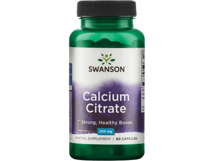 Swanson Calcium Citrate, 200 mg, 60 kapslí