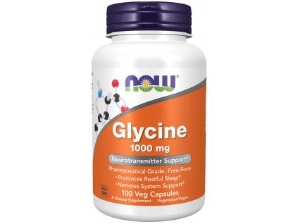 NOW FOODS Glycine, 1000 mg, 100 rostlinných kapslí