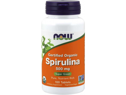 NOW FOODS Spirulina Organic, 500 mg, 100 tablet