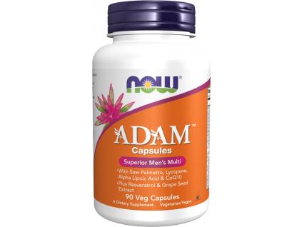 NOW FOODS Multi Vitamin Adam, Men's Superior, 90 Rostlinných kapslí