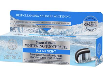 Natura Siberica přírodní černá bělící zubní pasta Polární noc 100 g 2