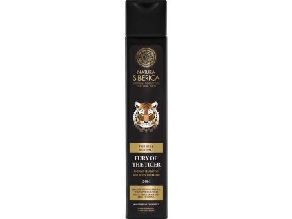 Natura Siberica Men energizující šampon na vlasy i tělo Fury of the Tiger 250 ml