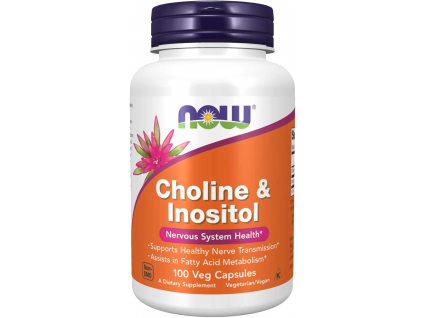 NOW FOODS Choline & Inositol, 100 kapslí