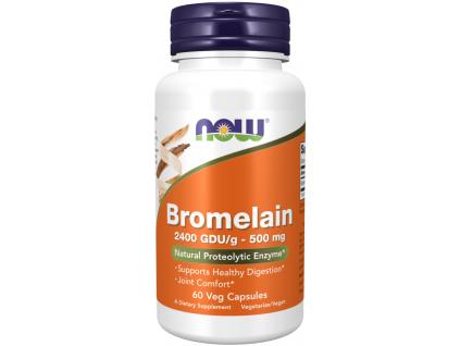 NOW FOODS Bromelain, 500 mg, 60 rostlinných kapslí