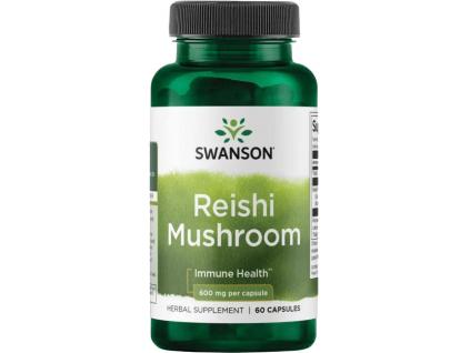 Swanson Reishi Mushroom (Houba Reishi), 600 mg, 60 kapslí