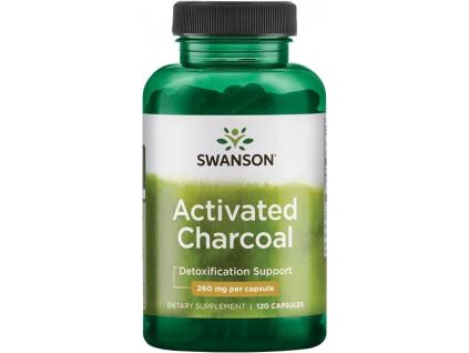 Swanson Activated Charcoal (Aktivní uhlí), 260 mg, 120 kapslí