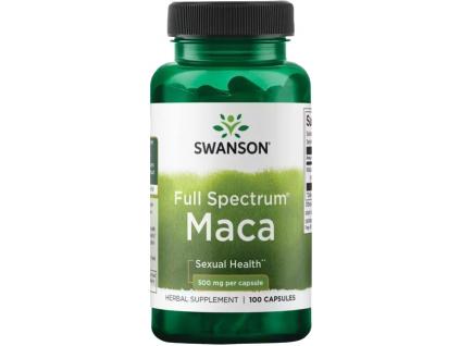 Swanson Maca Horská (Lepidium meyenii), 500 mg, 100 kapslí
