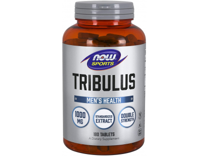 NOW FOODS Tribulus Terrestris, Kotvičník zemní, 1000 mg, 180 Tablet