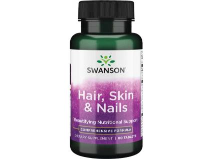 Swanson Komplex pro Vlasy, Pokožku a Nehty, 60 tablet