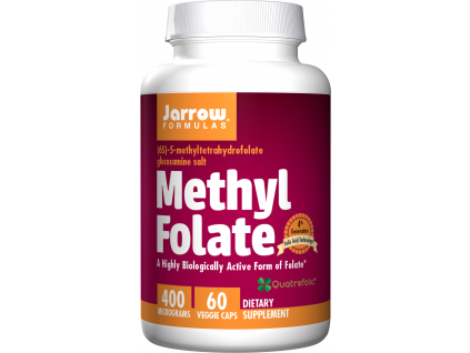 Jarrow Methyl Folate (Kyselina listová), 400 μg, 60 kapslí